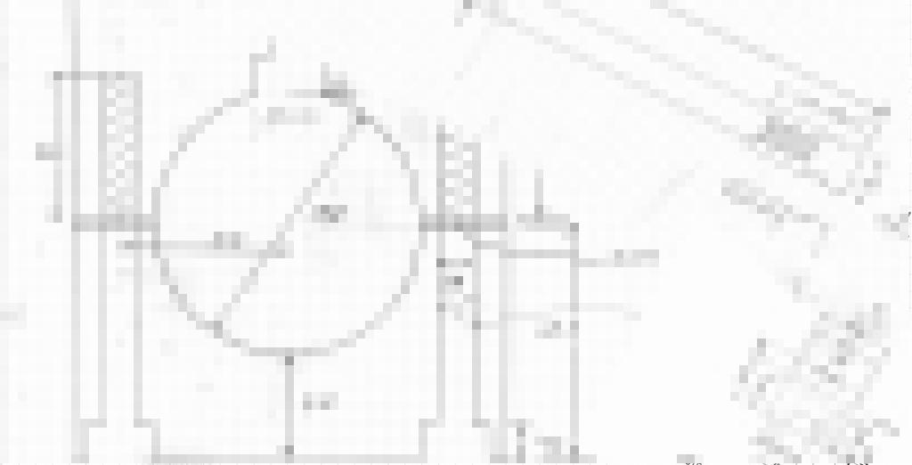 アウターチューブの図面モザイク
